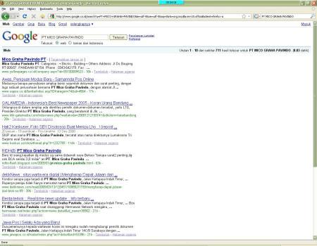 hasil searching di google