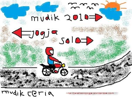 mudik ceria jalan solo jogja 2010 selamat hari raya idul fitri 1431 H