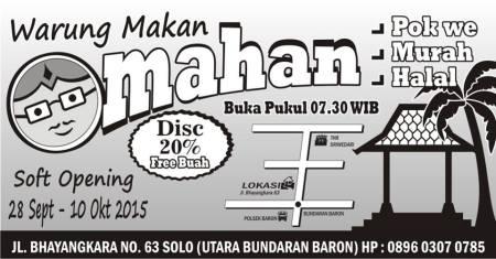 warung makan omahan - soft opening 2015